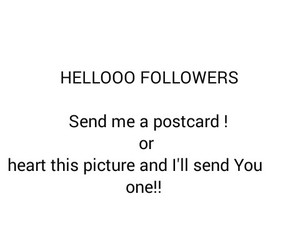 postcard, followers, and me image