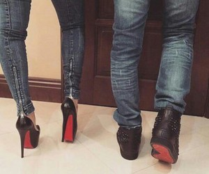 couple, love, and high heels image