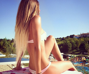 girl, long hair, and rosy image