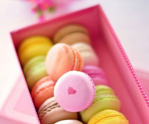 macaroons, food, and yummy image
