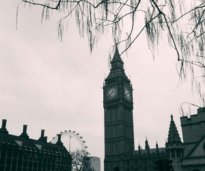 b&w, Big Ben, and black and white image