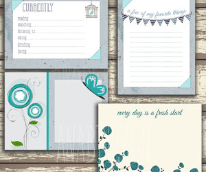 journaling, journals, and scrapbook image