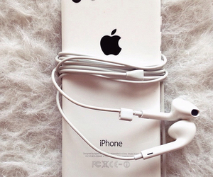 apple, white, and listen image