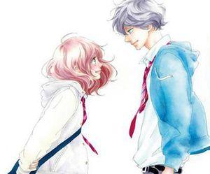 ao haru ride, anime, and manga image