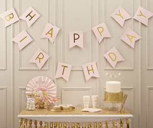 birthday, decor, and gold image