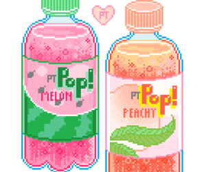 pixel, drink, and pastel image