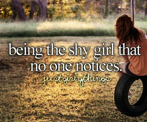 girl, shy, and notice image