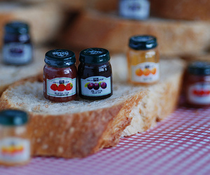 jam, bread, and food image