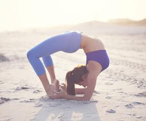 girl, yoga, and workout image