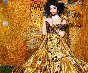 art, fashion, and klimt image