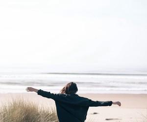 beach, girl, and free image