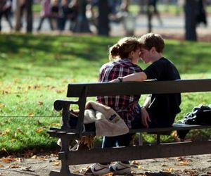 autumn, happy, and lovers image