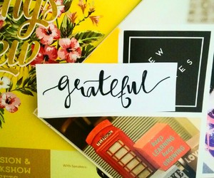 grateful, hand lettering, and typography image