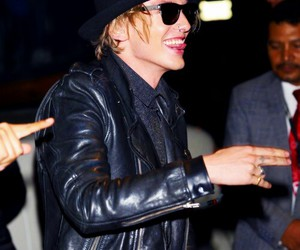 Jamie Campbell Bower and smile image