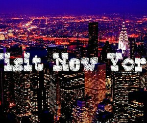 america, light, and new york image