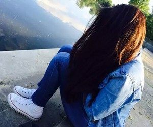 girl, jeans, and converse image