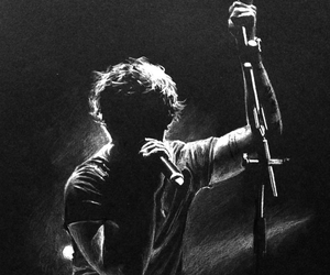 ed sheeran, black and white, and music image