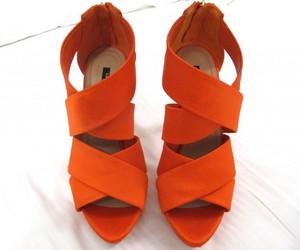 fashion, shoes, and orange image