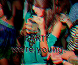 party, drink, and girl image