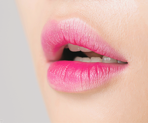 pink, beauty, and lipstick image
