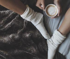 blanket, chill, and coffee image