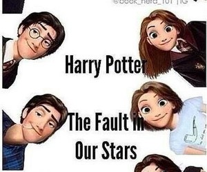 harry potter, divergent, and the fault in our stars image
