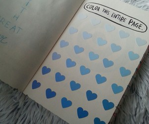 blue, color, and heart image