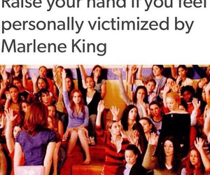 pll, marlene king, and mean girls image