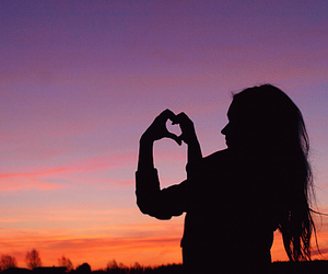 girl, heart, and love image