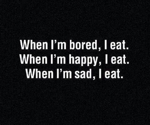 eat, bored, and sad image