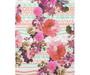 coral, floral, and flowers image
