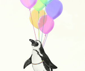 art, baby, and balloons image
