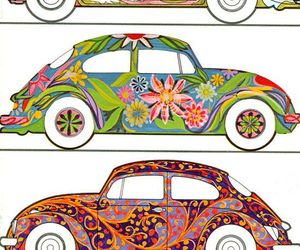 beetle, psychedelic, and retro image