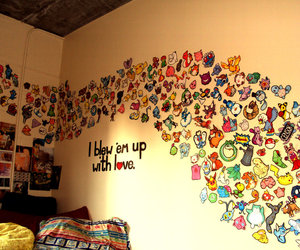pokemon, room, and wall image