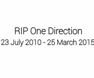 rip, onedirection, and sad image