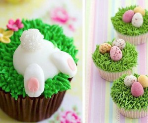 cupcake, bunny, and easter image