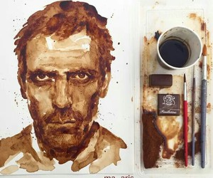 art, coffee, and dr house image