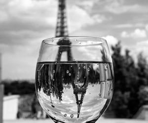 paris, black and white, and glass image