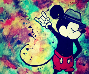 art, creative, and micky mouse image