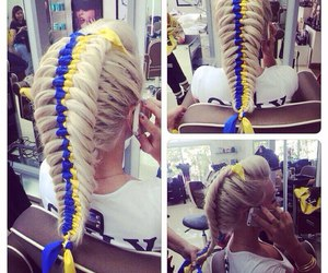 beauty, braid, and blond image