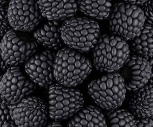 black, fruit, and food image