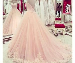 dress, pink, and wedding image