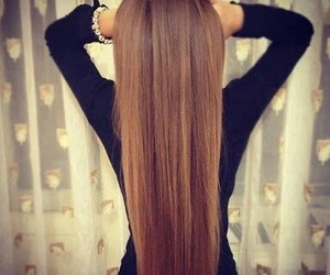 brown, hair, and long image