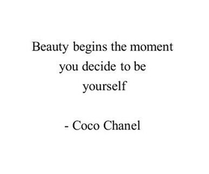 coco chanel, be yourself, and girl image
