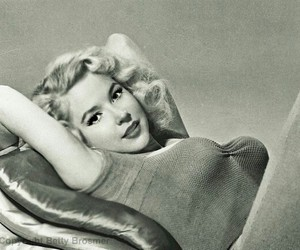 black and white, betty brosmer, and girl image