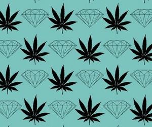 wallpaper, diamond, and weed image