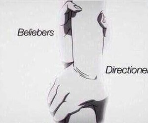 directioners, beliebers, and justin bieber image