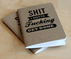book, shit, and notebook image