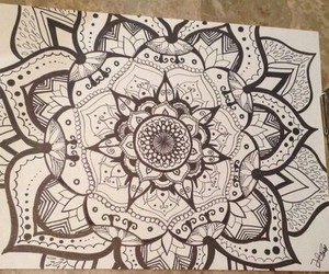 art, marker, and black and white image