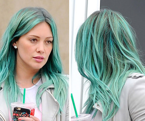 color hair, Duff, and green hair image